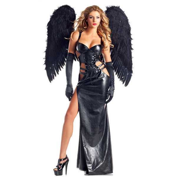 Costume Halloween Carnival Black Vinyl Leather Fancy Dresses Cosplay - Sins & Temptations