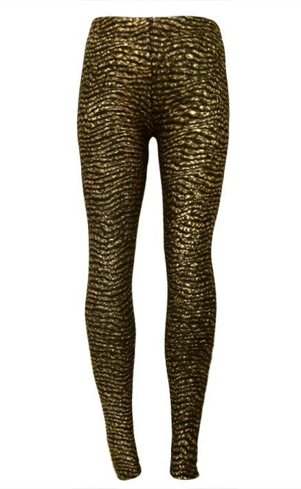 Graceful Gold Sexy Ladies Leggings - Sins & Temptations