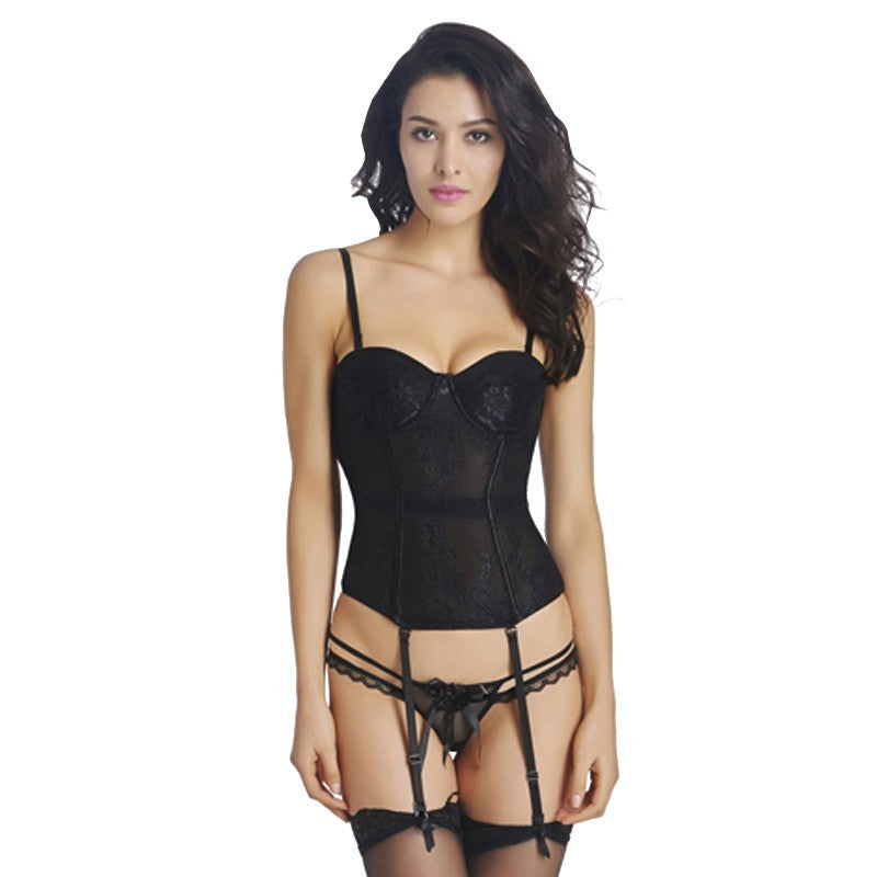 Flower Hot Waist Lace Corset - Sins & Temptations