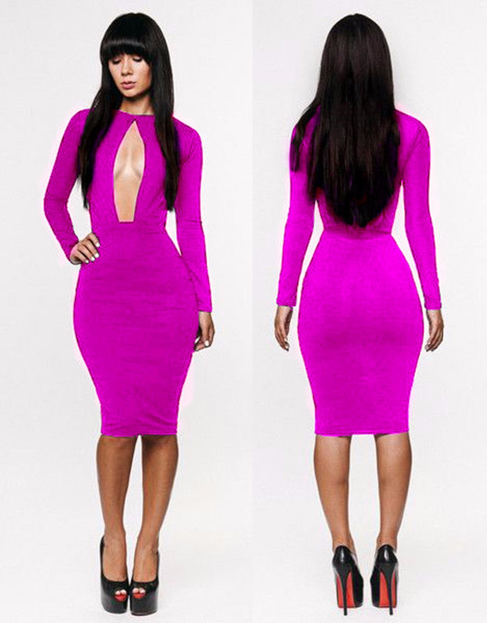 Spring Fashion Lady Bandage Long sleeve party robe dress - Sins & Temptations