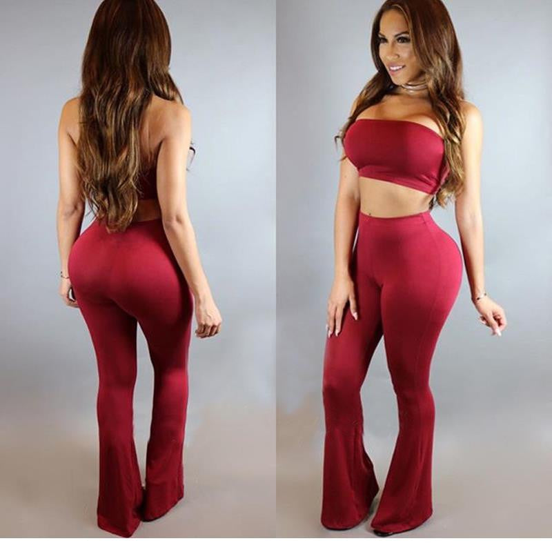 High Quality Sexy Womens Wrapped Short Top & Long Pants Clubwear - Sins & Temptations