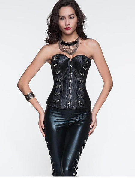 Fashion Punk High Quality Black Corset Top Overbust - Sins & Temptations