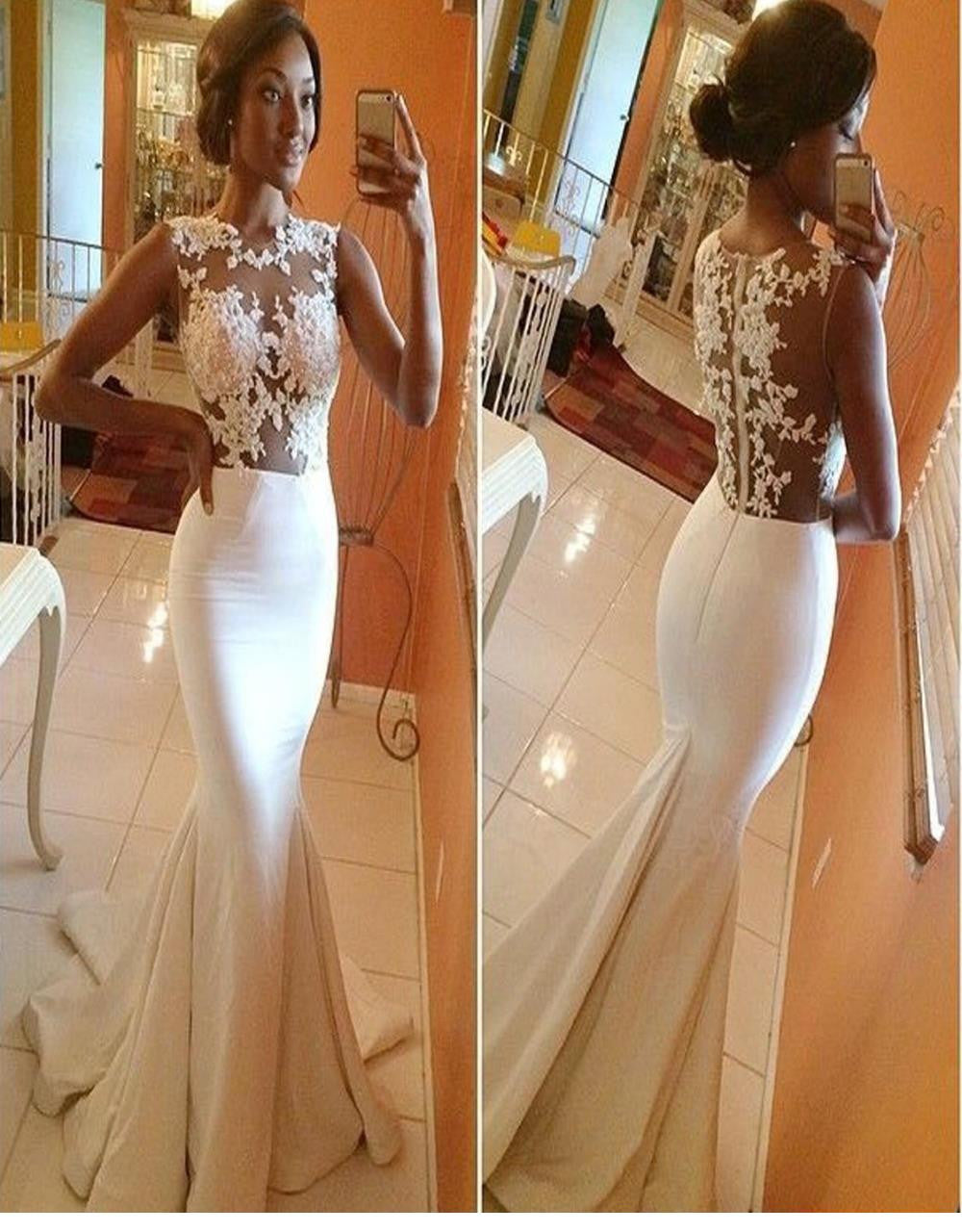 Long Mermaid Floor Gown, Wedding Dress - Sins & Temptations