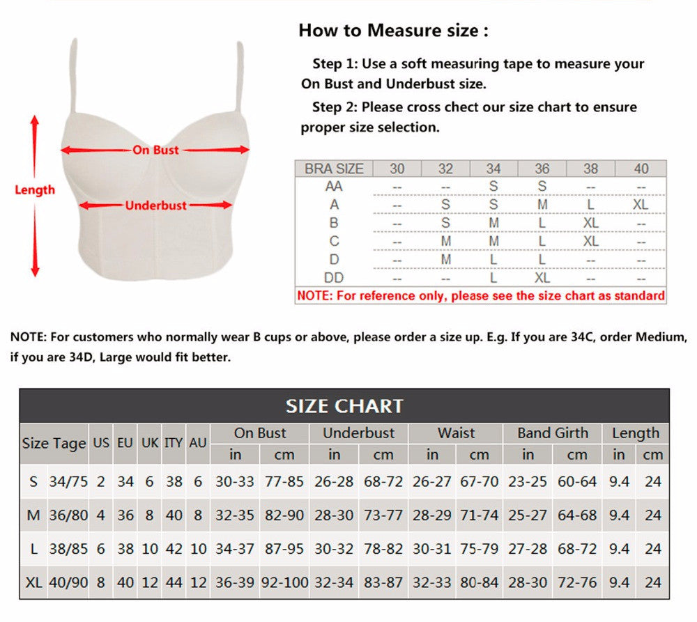 Fashion Geometric Women's Push Up Bustier Wedding Party Corset Cropped Top - Sins & Temptations