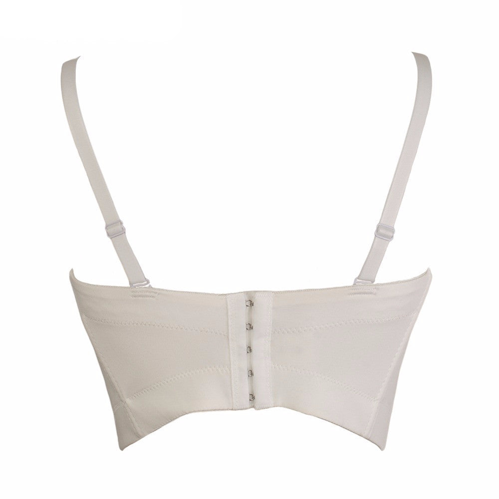 Basic Smooth Spandex Push Up Bralet Women's Bustier Bra Cropped Top Vest - Sins & Temptations