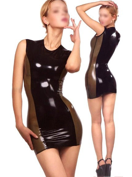 Casual Sexy Black Natural Pure Latex Vestidos Rubber Dress - Sins & Temptations