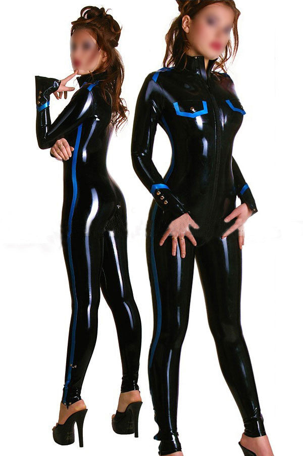 Sexy Pure Latex Catsuit For Female Slim Tight Rubber Bodysuit - Sins & Temptations