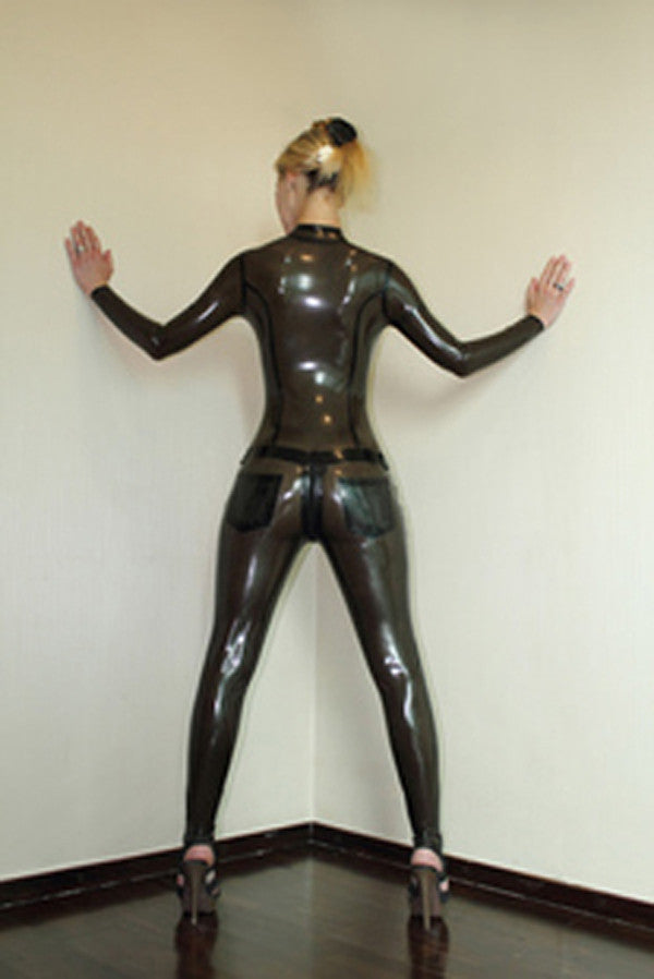 Pure Latex Transparent Black rubber Catsuits sexy costume - Sins & Temptations