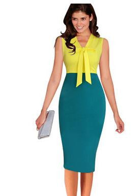 Slim Sleeveless Office Pencil Dresses Work Wear Business Party Bodycon Dress - Sins & Temptations
