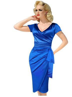 V Neck Summer Casual Dress Business Party Formal Bodycon Pencil Work wear Dress - Sins & Temptations