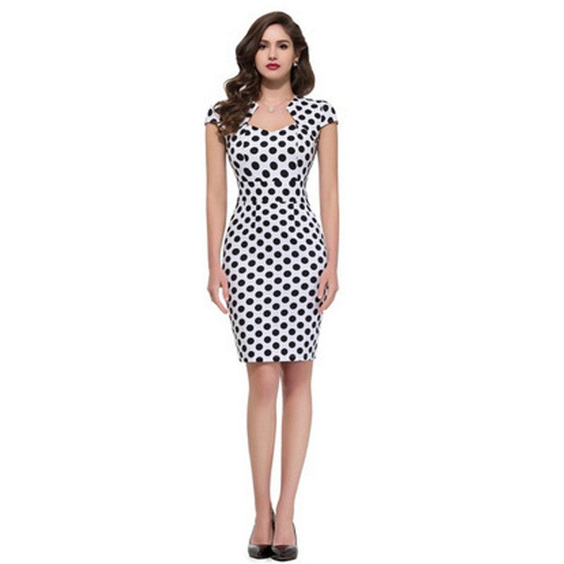 Female Vintage Work Wear Dress Business Party Casual Bodycon Pencil Dress - Sins & Temptations