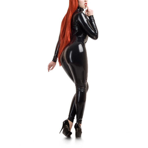 High Quality Sexy Pure Latex Catsuit Rubber Latex Bodysuit 0.4MM Thickness - Sins & Temptations