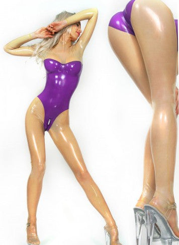 New Design Skin tight Pure Latex catsuit with inserted Cups - Sins & Temptations