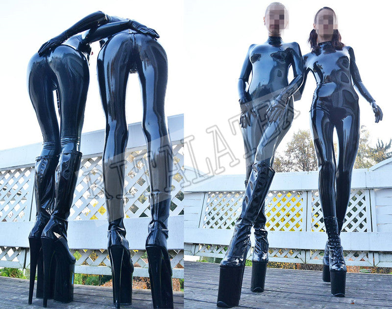 Hot Sale Castuit With Gloves Pure Latex Socks Cover Bodysuit Skin Tight Wet-Look Latex Zentai - Sins & Temptations