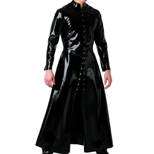 Rubber Pure latex wind coat , latex long jacket for men - Sins & Temptations