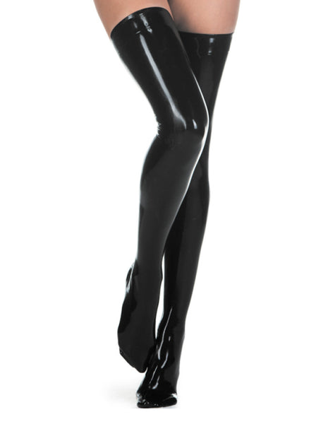 High Quality Pure Latex Rubber Handmade Fetish Long Stockings Sexy Latex Socks - Sins & Temptations