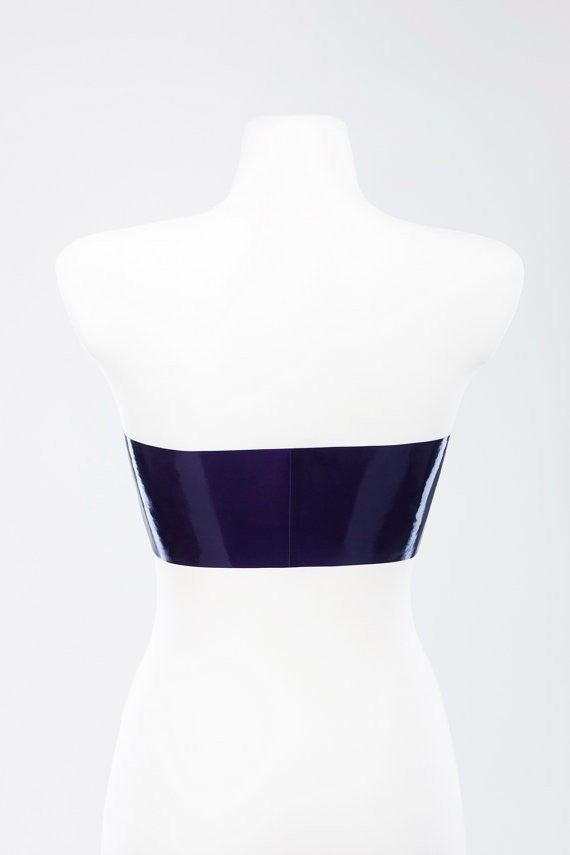 Pure Latex tube top with zipper Latex Underwear Women's Latex Rubber Costumes - Sins & Temptations