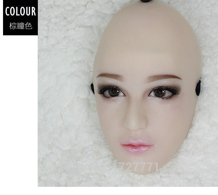 Handmade silicone Half Sexy Female Face Doll Mask - Sins & Temptations