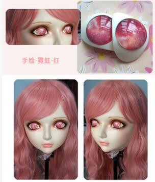 Female Sweet Girl Resin Half Head Doll Mask - Sins & Temptations