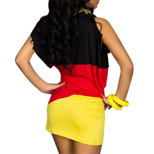 German Mini dress Summer Style Colorful Short Casual Robe - Sins & Temptations