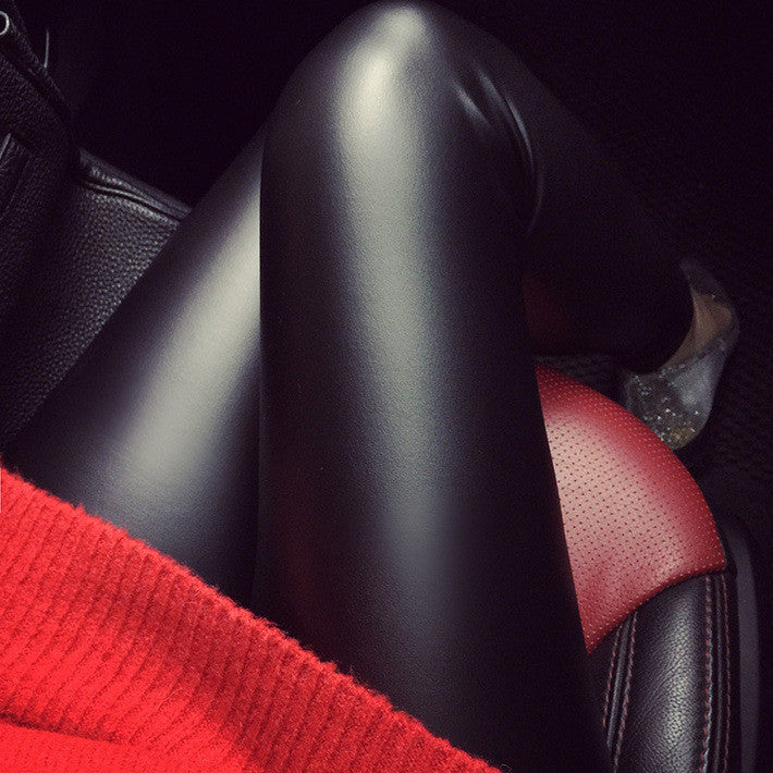 High Waist PU Leather Pants Leggings Faux Leather Pencil Pants - Sins & Temptations