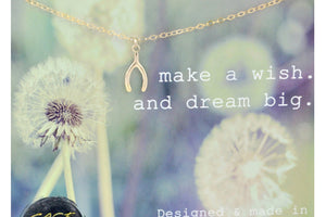 Wishbone Necklace, Make A Wish And Dream Big - 14K Gold Filled-Sela+Sage