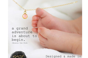 Gold Mothers Necklace, Baby Shower Gift Girl Baby Shower Present - 14K Gold Filled-Sela+Sage
