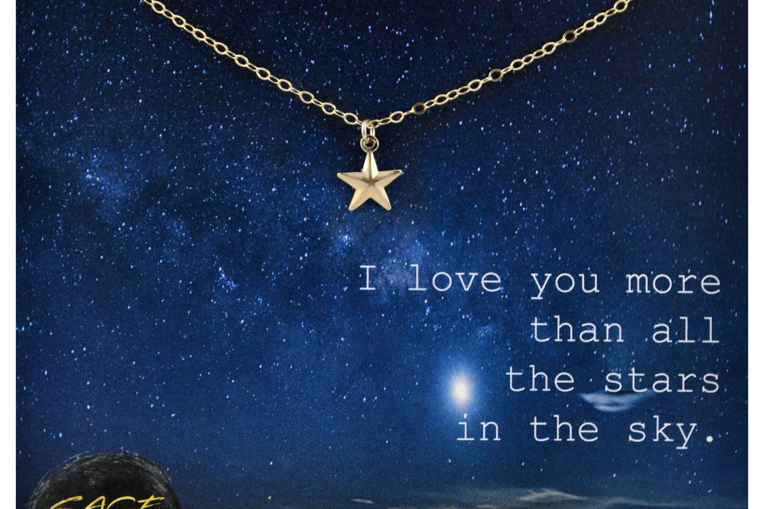LOVE YOU MORE, Star Necklace - 14K Gold Filled-Sela+Sage