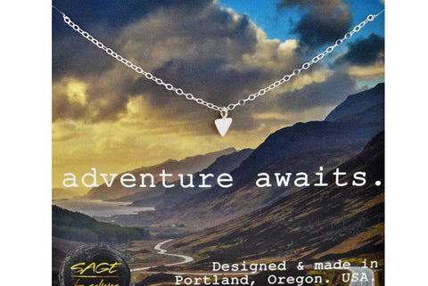 ADVENTURE AWAITS Triangle Necklace - Sterling Silver-Sela+Sage