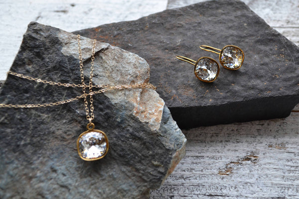 Swarovski Crystal Drop Earring - 14K Gold Filled-Sela+Sage