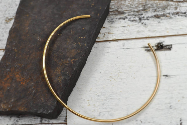 Gold Neck Cuff - Gold Collar-Sela+Sage