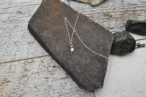 Dainty Star Necklace - Sterling Silver-Sela+Sage