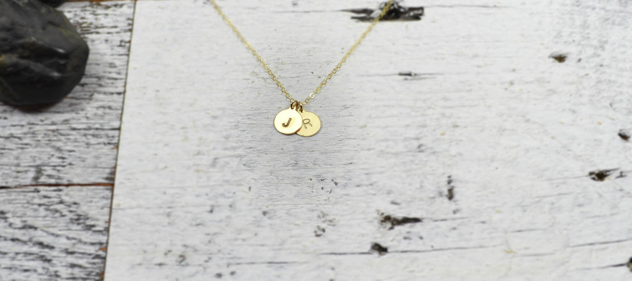 Initial / Letter Pendant Necklace - 14K Gold Filled-Sela+Sage