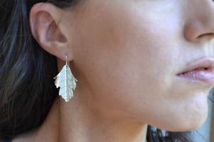 Maple Leaf Earrings - Sterling Silver-Sela+Sage