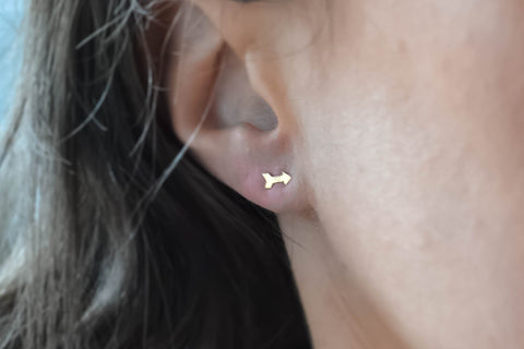 Super Tiny Gold Arrow Earrings- 14K Gold Filled-Sela+Sage