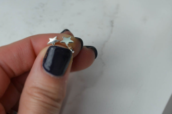 Star Stud Earrings - Sterling Silver-Sela+Sage
