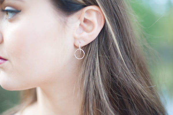 Simple Karma Circle Earrings - 14K Gold Filled-Sela+Sage