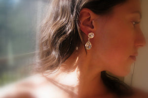 Bridal Earrings, Swarovski Crystal Earrings - Sterling Silver-Sela+Sage