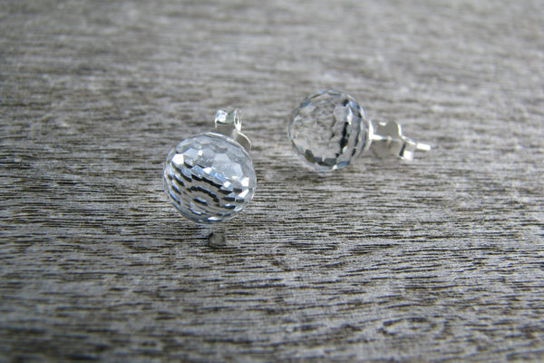 Swarovski Crystal Stud Earrings - Sterling Silver-Sela+Sage