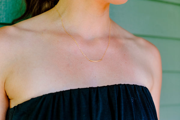 Layered Gold Bar Necklace - 14K Gold Filled-Sela+Sage