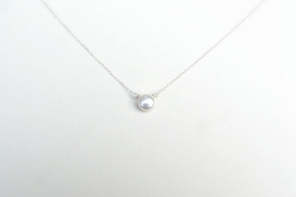 Natural Pearl Necklace - Sterling Silver-Sela+Sage