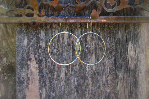 Open Circle Earrings - 14K Gold Filled-Sela+Sage