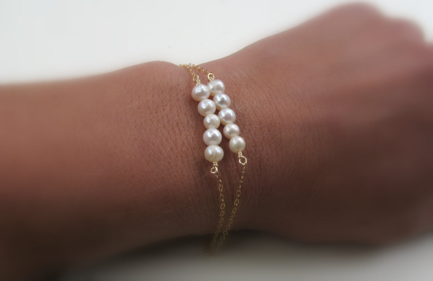Layered Pearl Bracelet Set - 14K Gold Filled-Sela+Sage