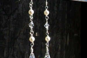 Long Ivory Pearl Earrings - 14K Gold Filled or Sterling Silver-Sela+Sage