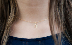 Little Gold Wishbone Necklace - 14K Gold Filled-Sela+Sage