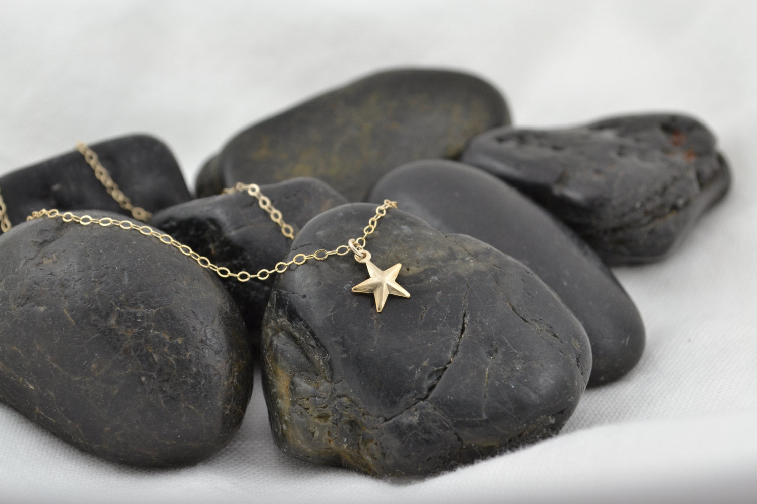 Gold Star Necklace, Little Star Charm - 14K Gold Filled-Sela+Sage