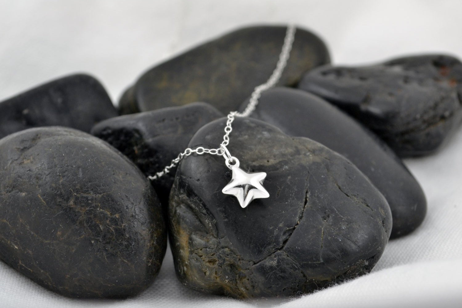 Star Charm Necklace - Sterling Silver-Sela+Sage