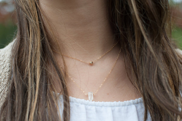 Little Gold Ball Necklace - 14K Gold Filled-Sela+Sage