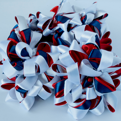Bowdee - White, navy, red