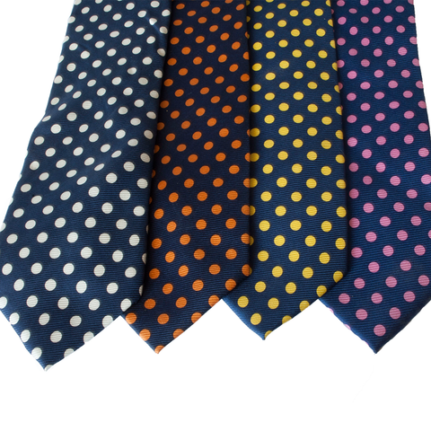 Gallery Equine and Show Stoppers navy polkadot ties